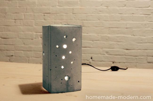 Подсвечник из бетона своими руками